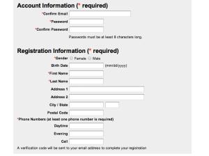 Account registration salon organic